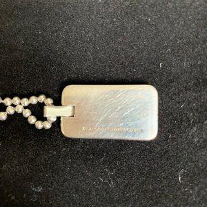 "Tiffany & Co. Jewelry - T&Co Atlas Dog Tag Pendant 16"" chain"